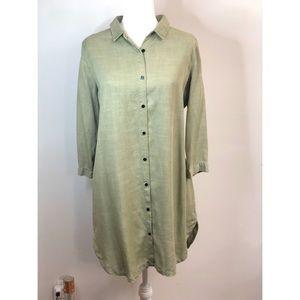 NWT Zara | Button Down Olive Dress